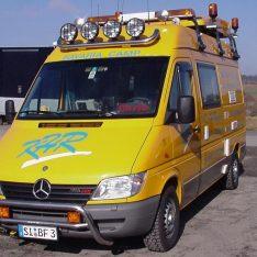 Scheinwerfwerbuegel Mercedes-Benz Sprinter Topbuegel Hochdach
